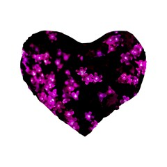 Abstract Background Purple Bright Standard 16  Premium Flano Heart Shape Cushions by Celenk