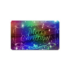 Christmas Greeting Card Frame Magnet (name Card) by Celenk