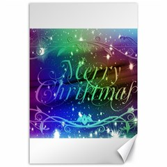 Christmas Greeting Card Frame Canvas 24  X 36  by Celenk