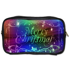 Christmas Greeting Card Frame Toiletries Bags by Celenk