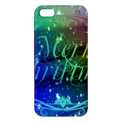 Christmas Greeting Card Frame Apple Iphone 5 Premium Hardshell Case by Celenk