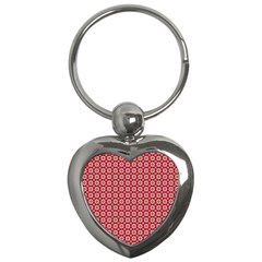 Christmas Wrapping Paper Key Chains (heart)  by Celenk