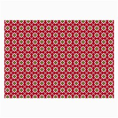 Christmas Wrapping Paper Large Glasses Cloth (2 Side) by Celenk