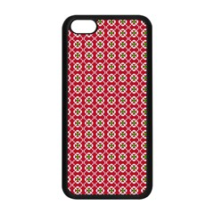 Christmas Wrapping Paper Apple Iphone 5c Seamless Case (black) by Celenk