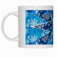 Christmas Background Wallpaper White Mugs by Celenk