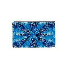 Christmas Background Wallpaper Cosmetic Bag (small)