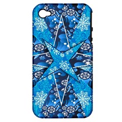 Christmas Background Wallpaper Apple Iphone 4/4s Hardshell Case (pc+silicone) by Celenk