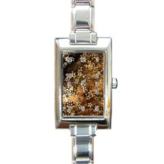 Star Sky Graphic Night Background Rectangle Italian Charm Watch by Celenk