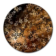 Star Sky Graphic Night Background Round Mousepads by Celenk