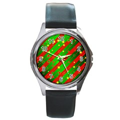 Star Sky Graphic Night Background Round Metal Watch by Celenk