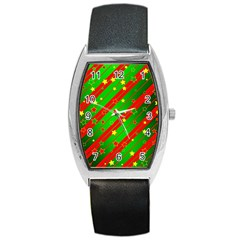 Star Sky Graphic Night Background Barrel Style Metal Watch by Celenk