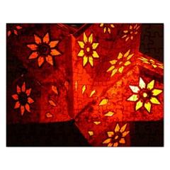 Star Light Christmas Romantic Hell Rectangular Jigsaw Puzzl by Celenk