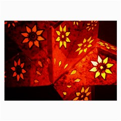 Star Light Christmas Romantic Hell Large Glasses Cloth (2 Side) by Celenk