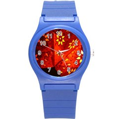 Star Light Christmas Romantic Hell Round Plastic Sport Watch (s) by Celenk