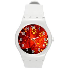 Star Light Christmas Romantic Hell Round Plastic Sport Watch (m) by Celenk