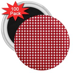 Christmas Paper Wrapping Paper 3  Magnets (100 Pack) by Celenk