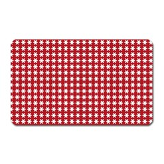 Christmas Paper Wrapping Paper Magnet (rectangular) by Celenk