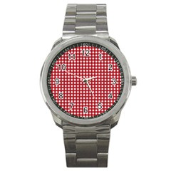 Christmas Paper Wrapping Paper Sport Metal Watch by Celenk