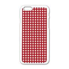 Christmas Paper Wrapping Paper Apple Iphone 6/6s White Enamel Case by Celenk