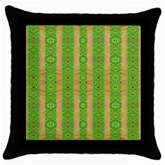 Seamless Tileable Pattern Design Throw Pillow Case (black) by Celenk
