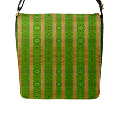 Seamless Tileable Pattern Design Flap Messenger Bag (l)  by Celenk