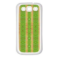 Seamless Tileable Pattern Design Samsung Galaxy S3 Back Case (white) by Celenk
