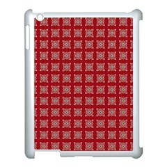 Christmas Paper Wrapping Paper Apple Ipad 3/4 Case (white) by Celenk