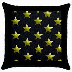 Stars Backgrounds Patterns Shapes Throw Pillow Case (black) by Celenk