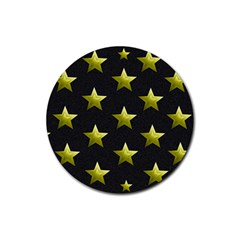 Stars Backgrounds Patterns Shapes Rubber Coaster (round)  by Celenk