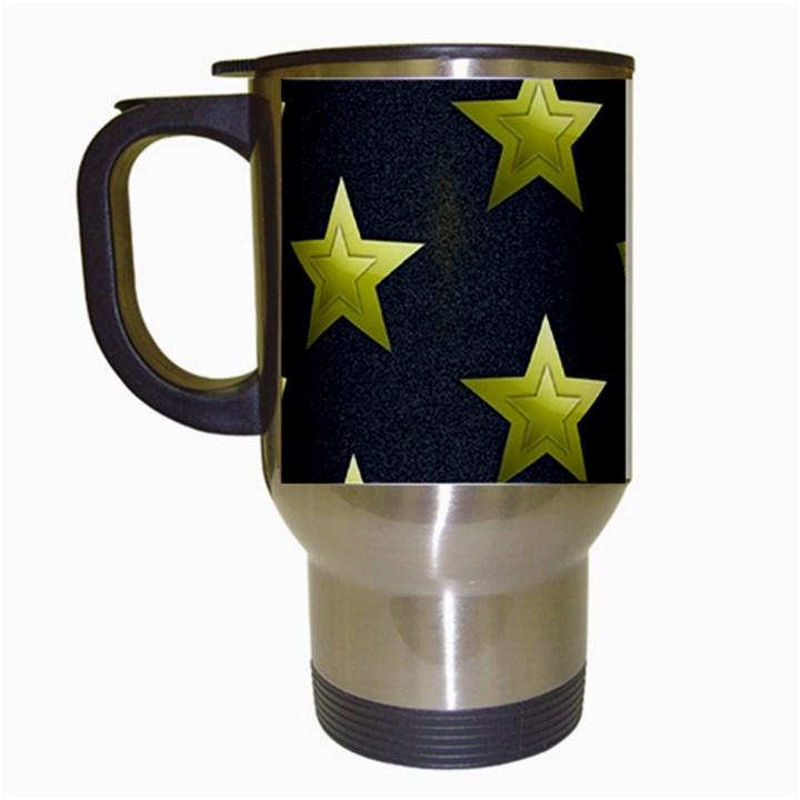Stars Backgrounds Patterns Shapes Travel Mugs (White)
