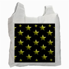 Stars Backgrounds Patterns Shapes Recycle Bag (one Side) by Celenk