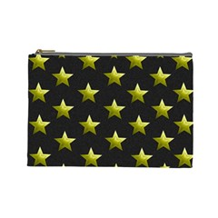 Stars Backgrounds Patterns Shapes Cosmetic Bag (large)  by Celenk