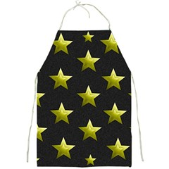 Stars Backgrounds Patterns Shapes Full Print Aprons by Celenk