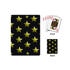 Stars Backgrounds Patterns Shapes Playing Cards (mini)  by Celenk