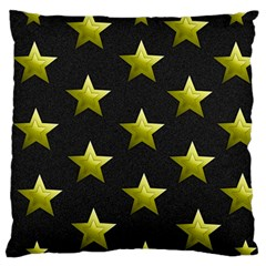 Stars Backgrounds Patterns Shapes Large Cushion Case (two Sides) by Celenk