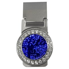 Lights Blue Tree Night Glow Money Clips (cz)  by Celenk