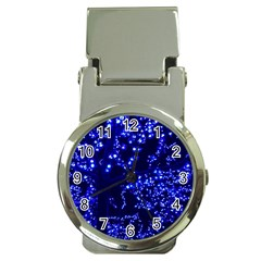 Lights Blue Tree Night Glow Money Clip Watches by Celenk