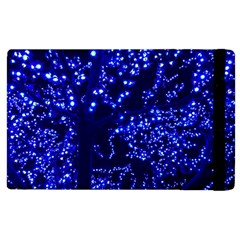 Lights Blue Tree Night Glow Apple Ipad 3/4 Flip Case by Celenk
