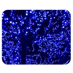 Lights Blue Tree Night Glow Double Sided Flano Blanket (medium)  by Celenk