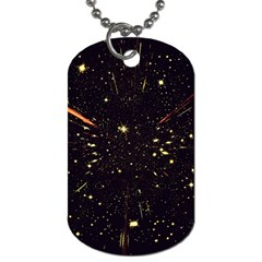 Star Sky Graphic Night Background Dog Tag (two Sides) by Celenk