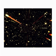 Star Sky Graphic Night Background Small Glasses Cloth (2 Side) by Celenk
