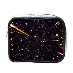 Star Sky Graphic Night Background Mini Toiletries Bags by Celenk