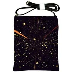 Star Sky Graphic Night Background Shoulder Sling Bags by Celenk