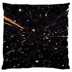 Star Sky Graphic Night Background Large Cushion Case (two Sides) by Celenk