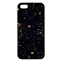 Star Sky Graphic Night Background Apple Iphone 5 Premium Hardshell Case by Celenk