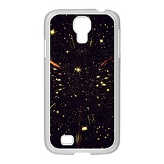 Star Sky Graphic Night Background Samsung Galaxy S4 I9500/ I9505 Case (white) by Celenk
