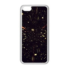 Star Sky Graphic Night Background Apple Iphone 5c Seamless Case (white) by Celenk