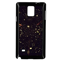 Star Sky Graphic Night Background Samsung Galaxy Note 4 Case (black) by Celenk