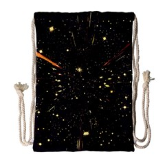Star Sky Graphic Night Background Drawstring Bag (large) by Celenk