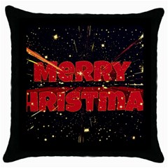 Star Sky Graphic Night Background Throw Pillow Case (black) by Celenk